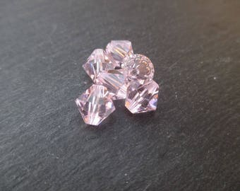 8 mm: 1 Swarovski Crystal bicone bead Rosaline - very light pink
