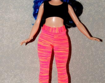 Curvy Barbie Coral exercise yoga pants A4B151 fashionista fashion doll clothes READY TO SHIP