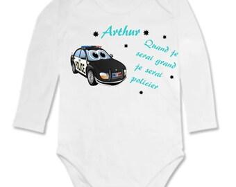 Bodysuit when I grow... personalized with name