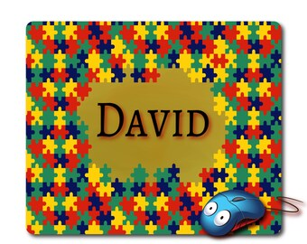Colorful puzzle Personal Name mouse pad Personalized Pad Custom Mousepad Customized mouse pad Custom name Personalized gift cool gift unique