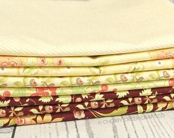 Hazel & Plum Yellow One Yard Bundle - Moda Fabric - Fig Tree Quilts - Hazel and Plum Fabric - Moda Bundle - 8 pieces