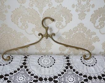 Vintage Kleiderbügell aus Messing Antique Brass clothes Hanger Vintage coat Hanger French  wedding dress hanger