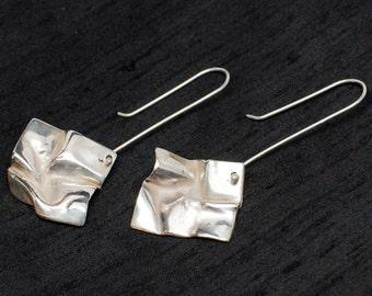 Sterling Silver Cast Earrings Hankies