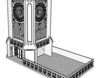 DT0004 - Cathedral Dice Tower