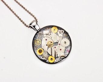 Steampunk necklace - Watch gear necklace - Gear necklaceStocking Stuffers