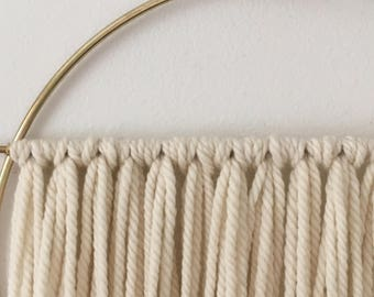 Transparent- Wool and Brass Wall Hanging