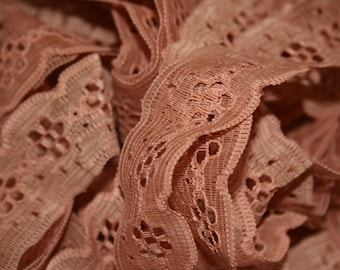 Vintage Copper Colored Lace