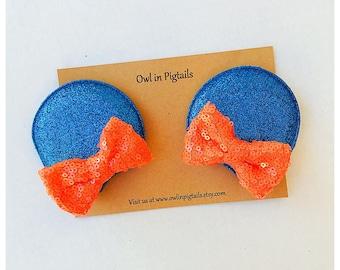 UF Gators Mouse Ears / Florida Gators Inspired Ears / Mouse Hair Clips