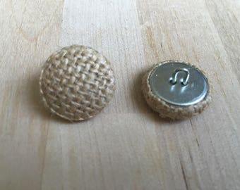 burlap 20mm-6 covered buttons