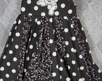 custom boutique twirl dress made with 101 dalmations patch size 5t reay to ship sale