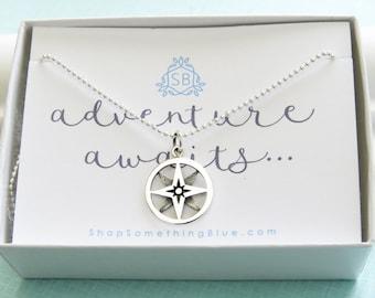 North Star Necklace • Journey Necklace • Graduation Gift • Inspirational Gift • Traveler Gift • Adventure Awaits • Polaris Charm