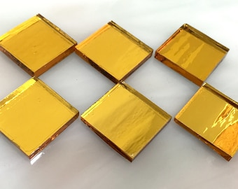 INCA GOLD MIRROR  - Colored Glass Mirror - Mosaic Tile Supply M9