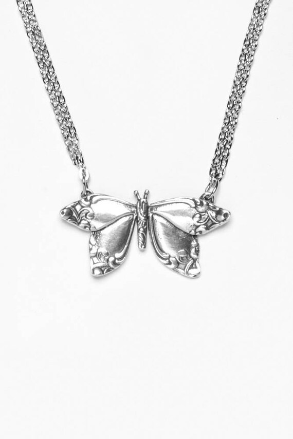 Spoon Necklace: Butterfly by Silver Spoon Jewelry