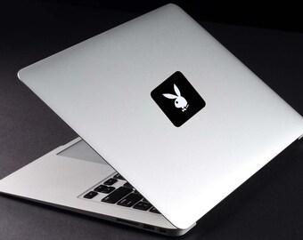 Playboy Decal Macbook Vinyl Sticker Laptop Sticker Hugh Hefner Lifestyle