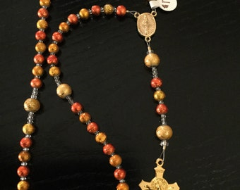 Gold & Orange Rosary