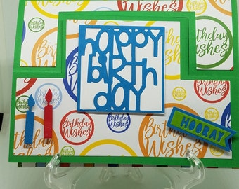 Happy Birthday Greeting Card Stand-up Card 3D Message Note