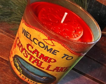 Camp Crystal Lake Candle - Choose Your Sick Scent - Horror Decor