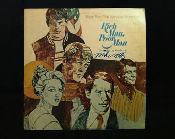 "Nick Nolte ""Rich Man, Poor Man "" Hand Signed Vinyl Record Sleeve"