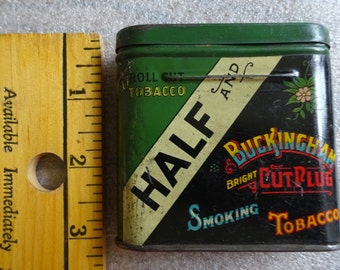 Half & Half Cut Tobacco Tin