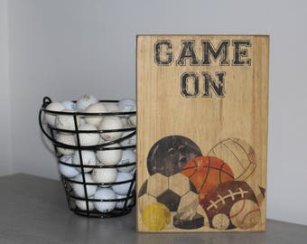 Game On sports wall art