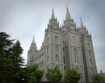 Salt Lake City Utah LDS temple - INSTANT digital download