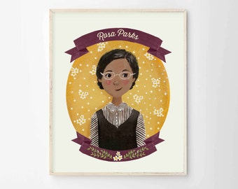Rosa Parks Print - Female Role Models Series - Women of History