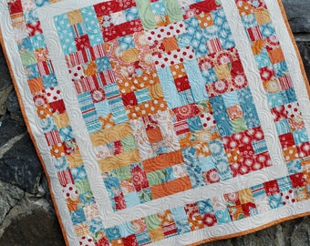 Handmade Baby QUILT, Patchwork Baby QUILT......pattern also for sale