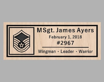 Air Force Personalized Sign Plaque