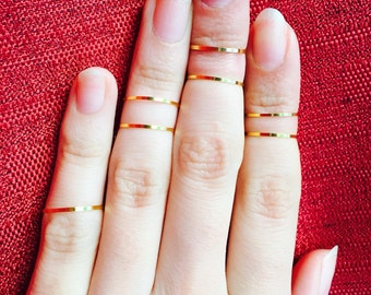Gold knuckle rings, midi ring
