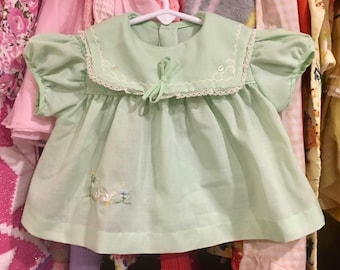 1960s Baby Dress 0/3 Months