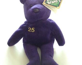 Bamm Beano's Mark McGuire #25 Purple Plush Bear With Tags