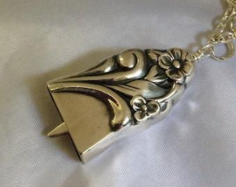 Knife Bell Pendant Firelight Silverware Jewelry Vintage Silverplate Knife