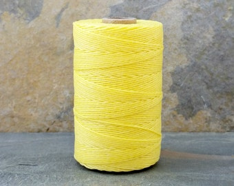3 Ply Lemon Yellow Waxed Irish Linen Thread 10 Yards WIL-35,bookbinding thread,waxed linen thread,lemon yellow thread,yellow linen thread