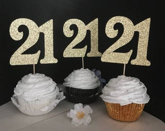 21st Birthday Cupcake Toppers, 21st Cupcake Toppers, Cupcake Toppers, 21 Cupcake Toppers, 21st Birthday Decor, 21st Birthday, Cupcake topper