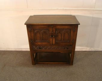 Ethan Allen Sold Oak Console Or Serving Cabinet