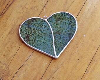 Valentine's Day Decor Funky Uroboros Glass Heart