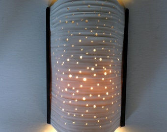 Small Translucent Porcelain Wall Sconce