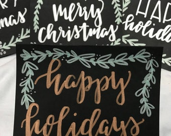 Happy holiday cards, Merry Christmas cards, Handmade holiday cards