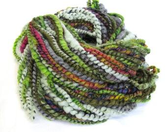 Art Yarn Handspun Dyed Merino Wool Corespun 100g