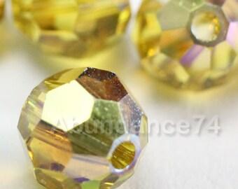 16 pcs Swarovski Elements - Swarovski Crystal Beads 5000 6mm Round Ball Beads - LIME AB