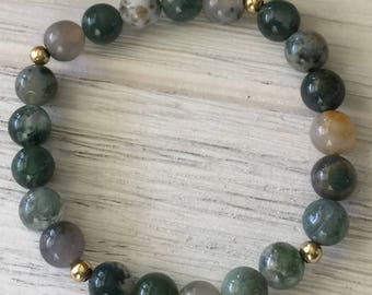 Shades of Green Jasper Bracelet