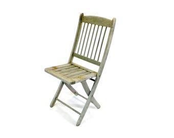 Rustic folding chair Etsy