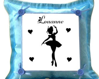 Blue cushion dancer personalized with name