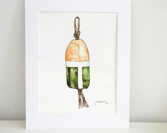 Buoy Watercolor Print