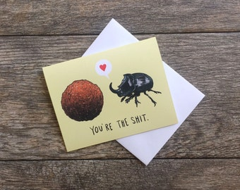 Dung Beetle Loves Poop Greeting Card *Updated*