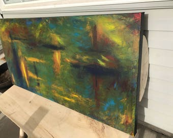Large Abstract green painting