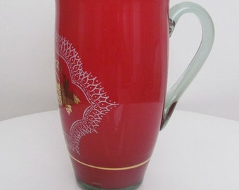 Red Antique Jug, Red Vintage Jug, Red Antique Pitcher, Vintage Pitcher, Red Pitcher, Red Jug, Antique/Vintage Pitcher!!!