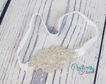 Bridal Headband - Rhinestone Headband - Wedding Headband - Flower Girl Headband - Crystal Headband - Adult Headband - Gatsby Headband