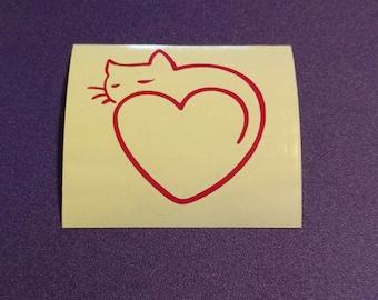 Cat Heart decal - #62