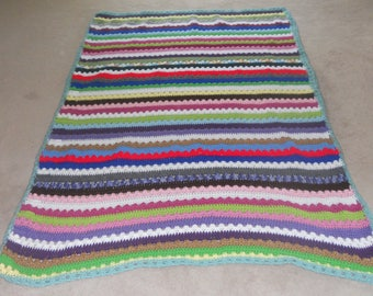 Scrappy Striped Afghan